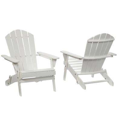 lattice folding white outdoor adirondack chair 2 pack