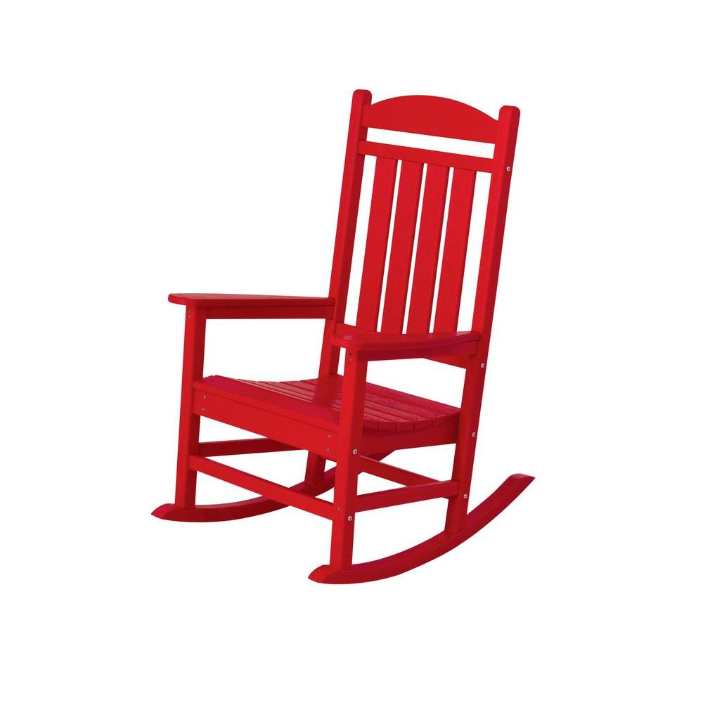 Red Patio Chairs Polywood Presidential Sunset Red Patio Rocker