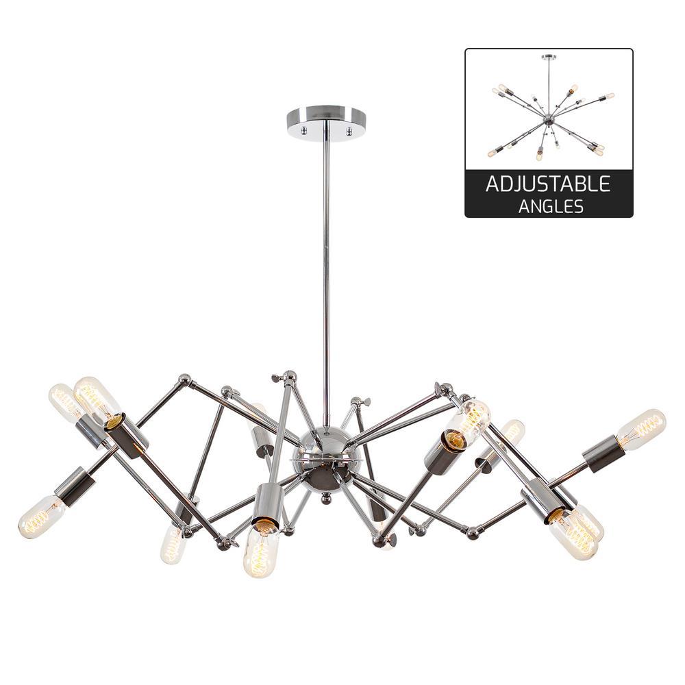 Light Society Arachnid 12-Light Chrome Chandelier-LS-C111