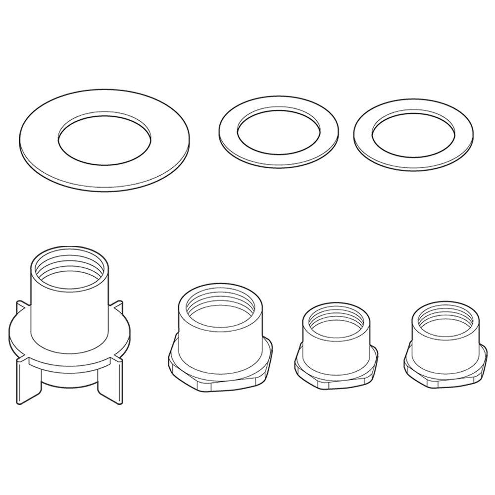 Delta Thick Deck Mounting Kit for Kitchen Faucets-RP37775