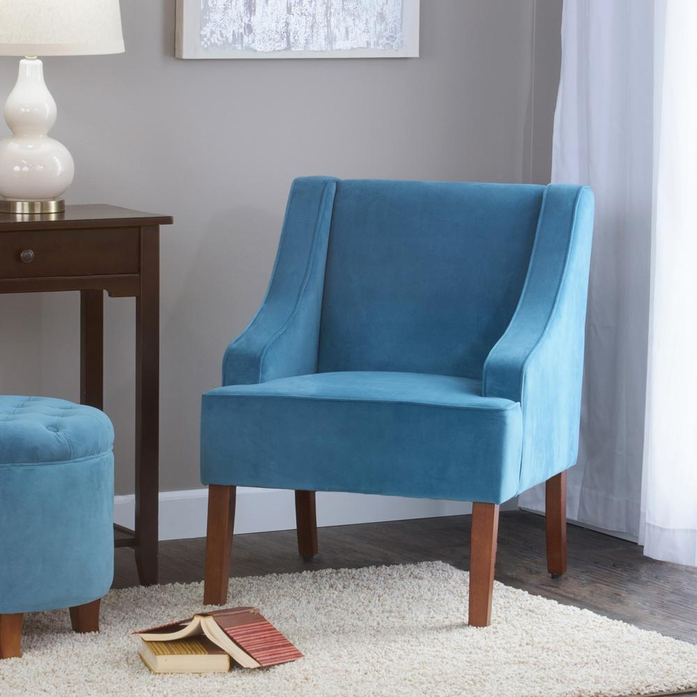 teal club chair buy rocking homepop swoop arm velvet accent k6499 b122 the home depot