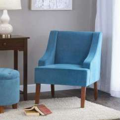 Teal Living Room Chair Sets Under 500 Furniture The Home Depot Swoop Arm Velvet Accent