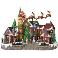 Home Accents Holiday 12.5 in. Animated Musical LED Village ...