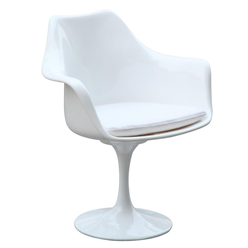 upholstered arm dining chair club chairs and table white flower fmi1133 the home depot
