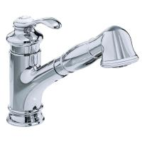 KOHLER Single-Handle Pull-Out Sprayer Kitchen Faucet in ...