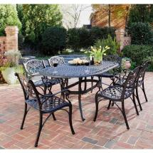 Home Styles Biscayne Black 7-piece Patio Dining Set-5554