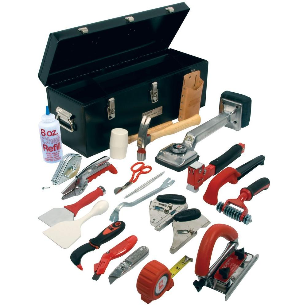 Roberts Pro Carpet Installation Tool Kit with 22 Tools and