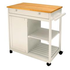 Rolling Kitchen Carts Large Island With Seating Spice Rack Islands Utility Tables The Cottage White Cart Storage