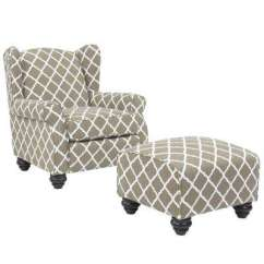Gray Accent Chair With Ottoman Wrought Iron Chaise Lounge Chairs Grey Wingback The Home Depot Barley Tan Trellis Hana And Set