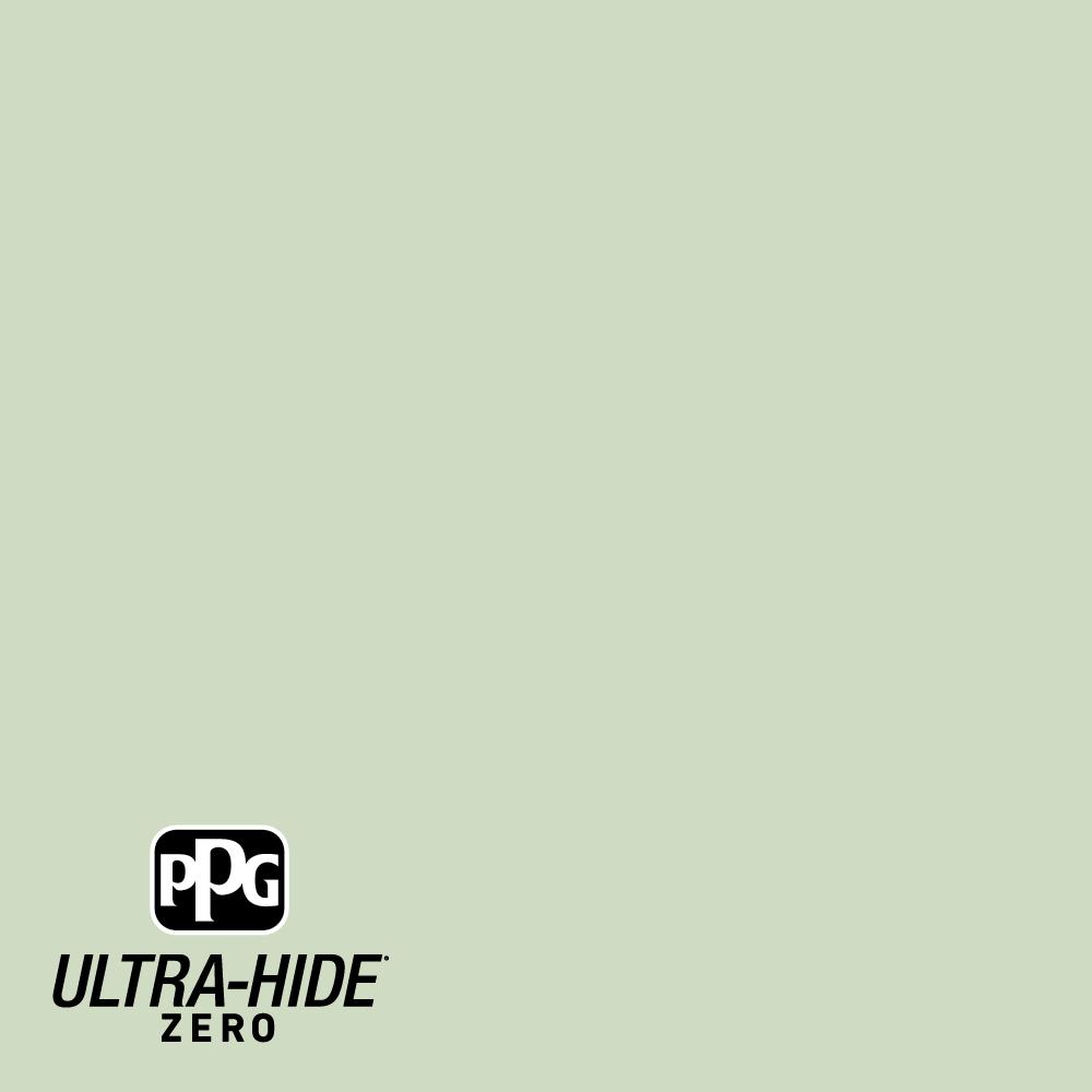 Ppg Ultra Hide Zero 5 Gal Ppg1121 3 Pale Moss Green Satin Interior Paint Ppg1121 3z 05sa The Home Depot