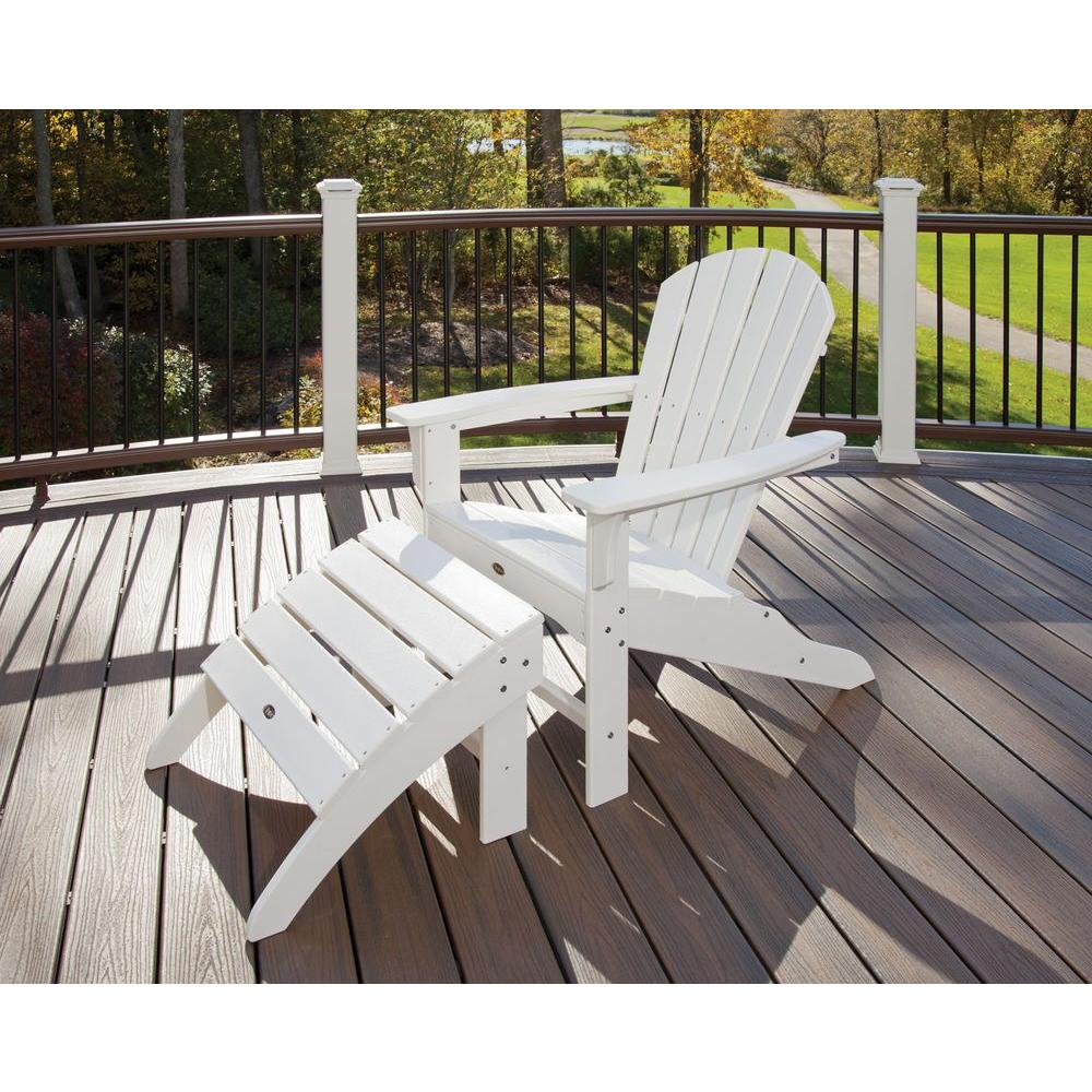 Adirondack Chair Set Trex Outdoor Furniture Yacht Club Shellback Classic White 2 Piece Patio Adirondack Chair