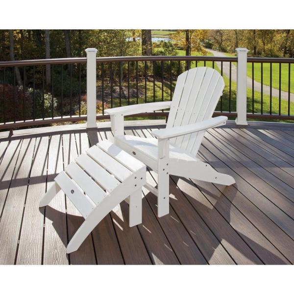 Trex Outdoor Furniture Cape Classic White 2-piece Patio Adirondack Chair-txs117-1-cw
