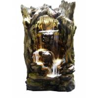 Alpine Rainforest Waterfall Tree Fountain with LED Lights ...
