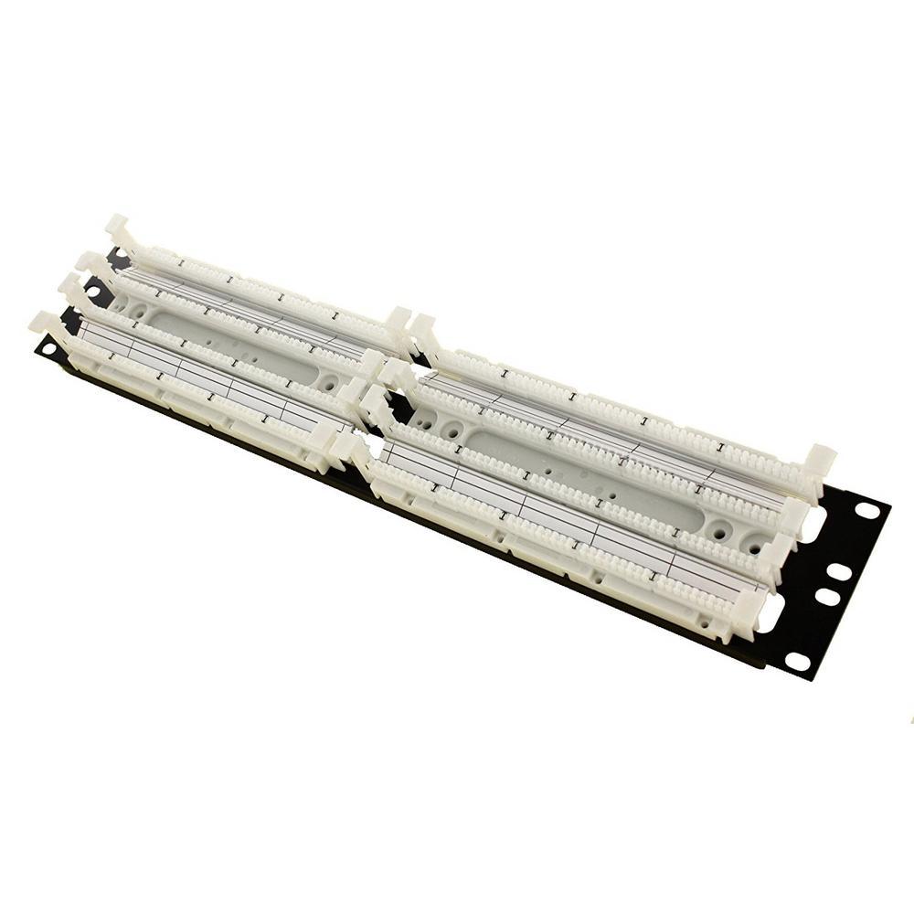 medium resolution of cat 5e 110 style wiring block rack mount ivory 200 pair