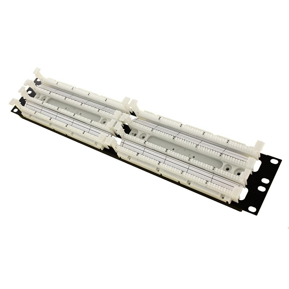 hight resolution of cat 5e 110 style wiring block rack mount ivory 200 pair