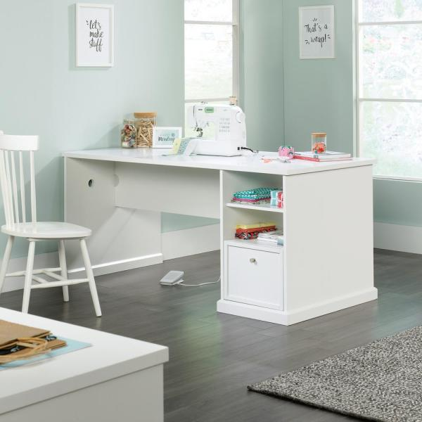 Unbranded Homevisions White Craft Desk 425032 The Home Depot