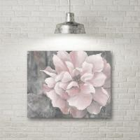 "16 in. x 20 in. ""Pink and Gray Magnolia"" Canvas Wall Art ..."