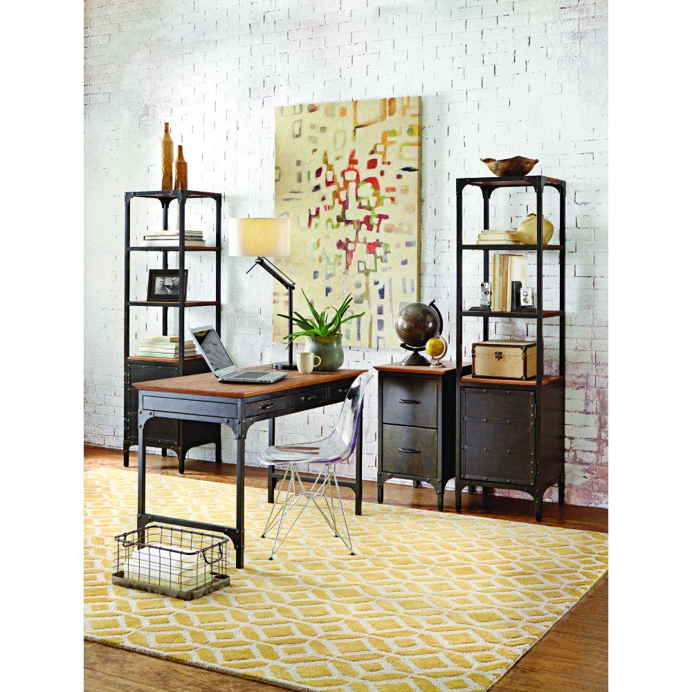 Home Decorators Collection Ambrose Natural Storage Open Bookcase9461110210  The Home Depot