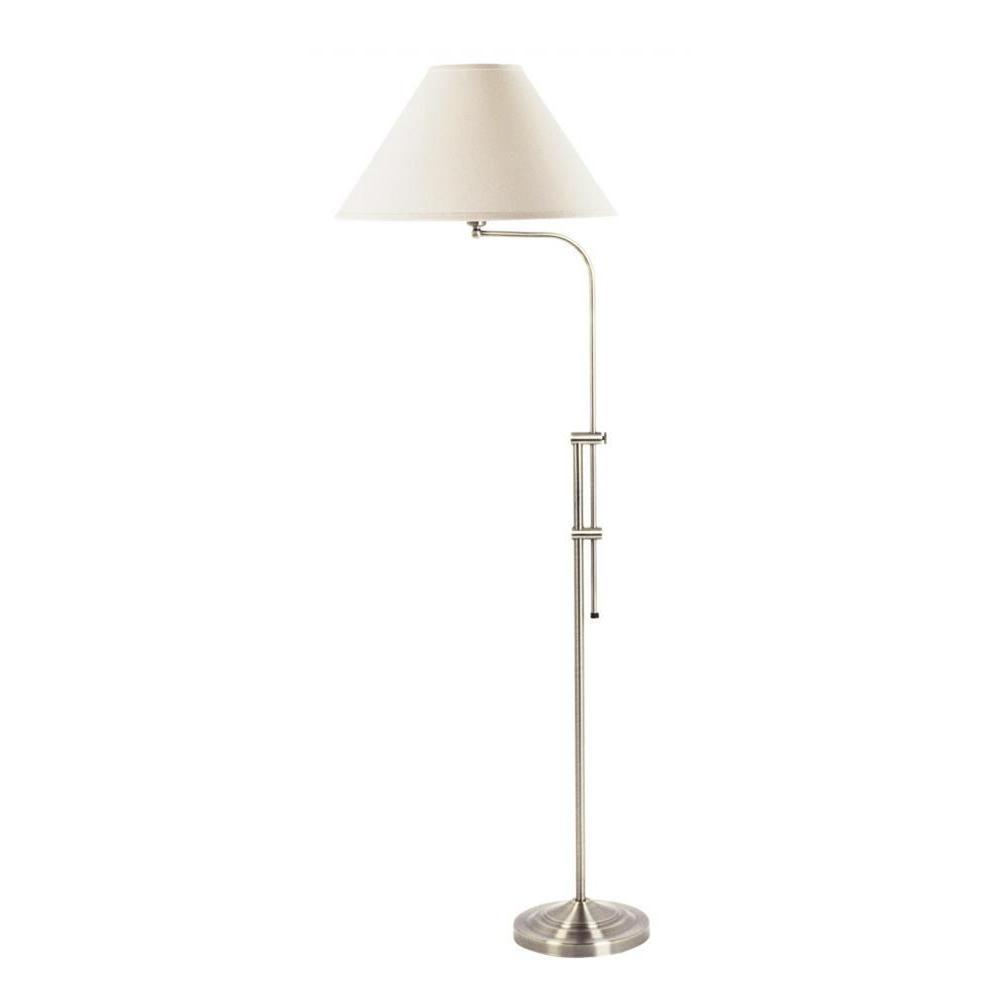 cal lighting cooper 67 in brushed steel floor lamp bo 216 bs the home depot