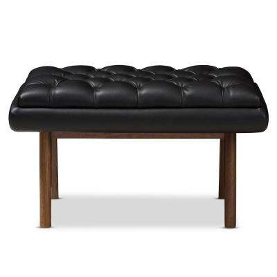 living room footstool wall colour pictures stool ottomans furniture the home depot annetha black tufted
