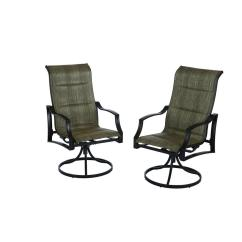 Swivel Rocker Outdoor Dining Chairs Rattan Hampton Bay Statesville Padded Sling Patio Chair 2 Pack