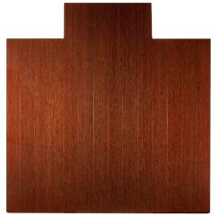 Chair Mat Home Depot Lifetime Storage Racks Office Dimex The Deluxe Dark Brown Mahogany 55 In X 57 Bamboo Roll Up