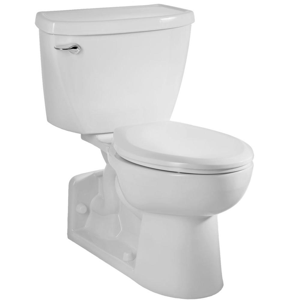hight resolution of american standard yorkville pressure assisted 2 piece 1 6 gpf single flush elongated toilet with back drain in white seat not included