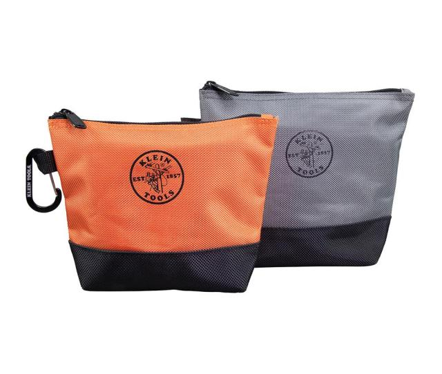 7 5 In Stand Up Zipper Tool Bag 2 Pack