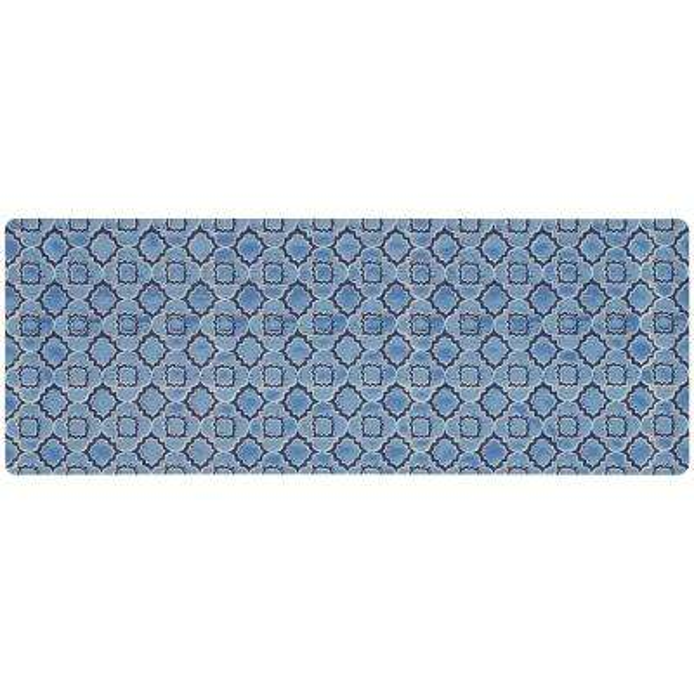 kitchen mats lighting fixtures ceiling micro elegance indigo clover 18 in x 48 mat