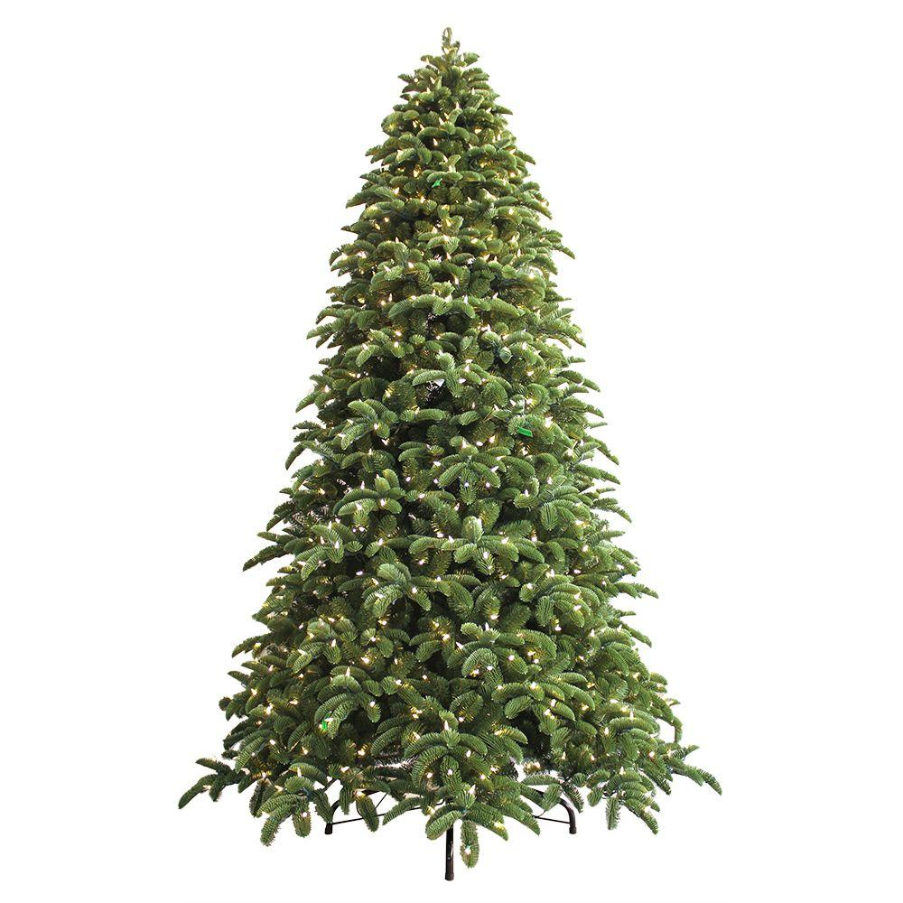 hight resolution of just cut noble fir ez light artificial christmas tree with 1000 color