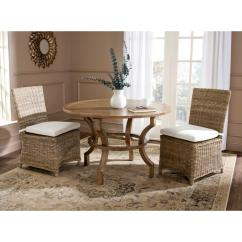 Gray Rattan Dining Chairs Chair Booster Seat Kmart Safavieh Sebesi Natural Set Of 2 Fox1600a Set2