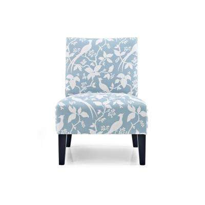 blue pattern accent chair replacement rocking cushions floral fabric chairs the home depot monaco robins egg bardot