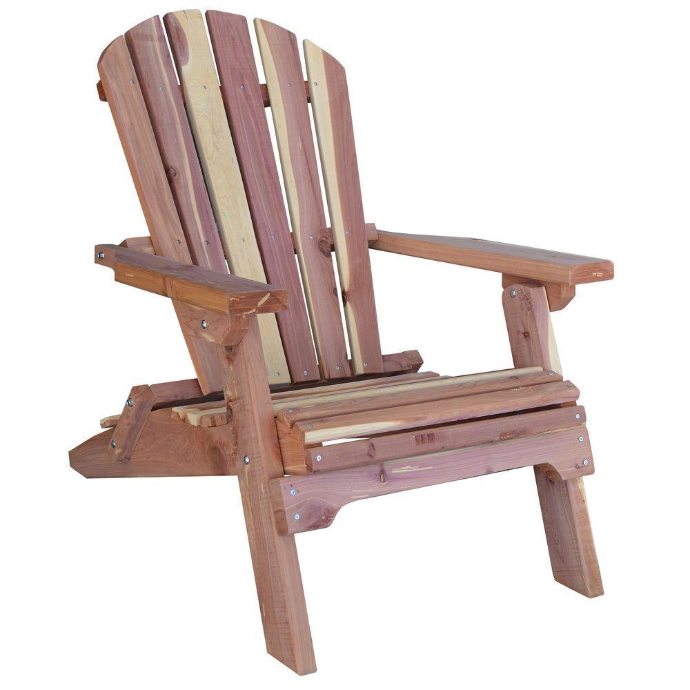 diy adirondack chair kit big lots tub amerihome cedar patio 800890 the home depot