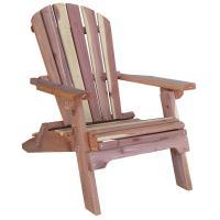 AmeriHome Cedar Patio Adirondack Chair-800890 - The Home Depot