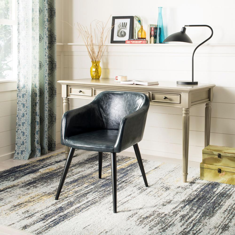 leather accent chairs white folding wholesale safavieh adalena dark grey chair ach7500c the home depot