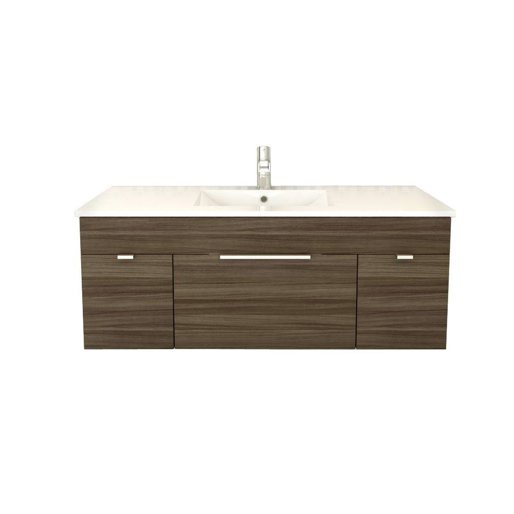 kitchen vanities cabinets discount cutler and bath textures collection 48 in w vanity driftwood with acrylic sink