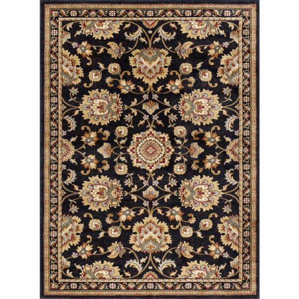 Tayse Rugs Sensation Black 9 Ft. X 12 Traditional Area Rug-sns4853 9x12 - Home Depot