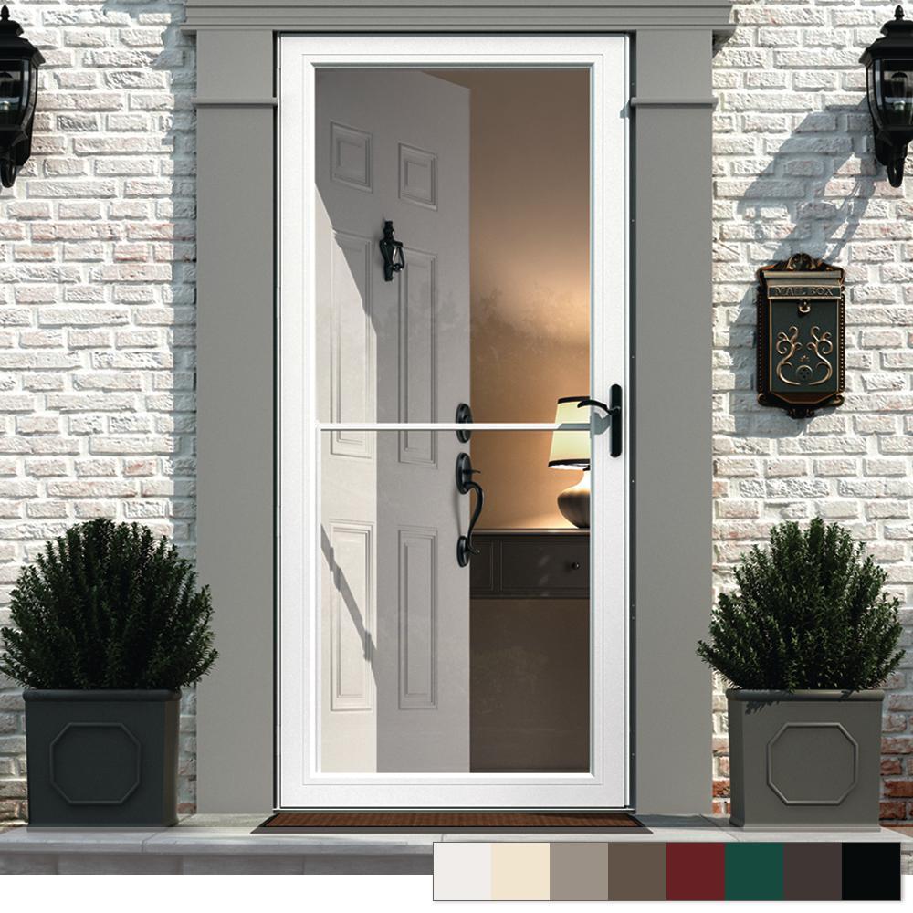 Andersen Retractable Screen Brass Storm Doors Exterior Doors The Home Depot