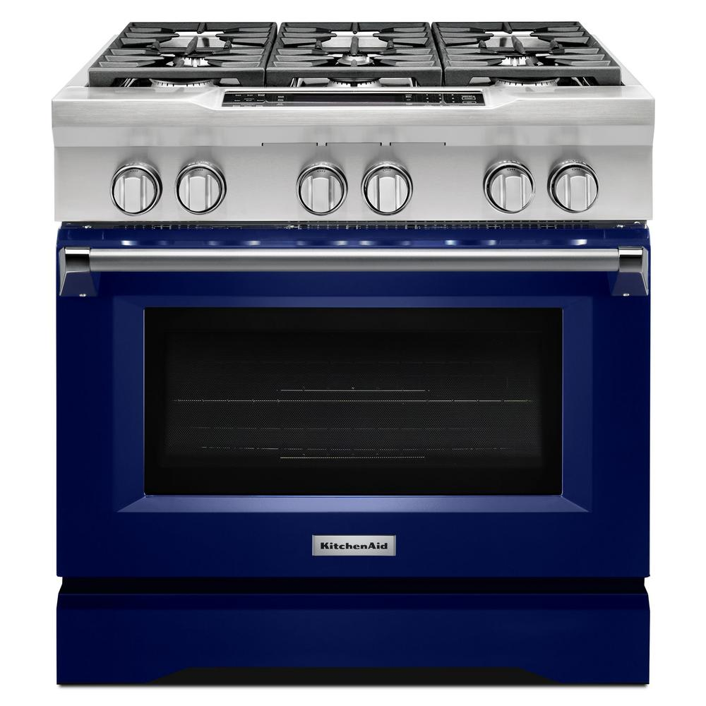 kitchen aid range design tool kitchenaid 5 1 cu ft dual fuel with convection oven in cobalt blue