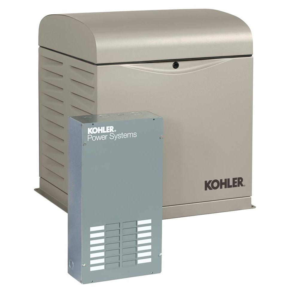 hight resolution of kohler 12 000 watt air cooled standby generator with 100 amp 12 circuit load center