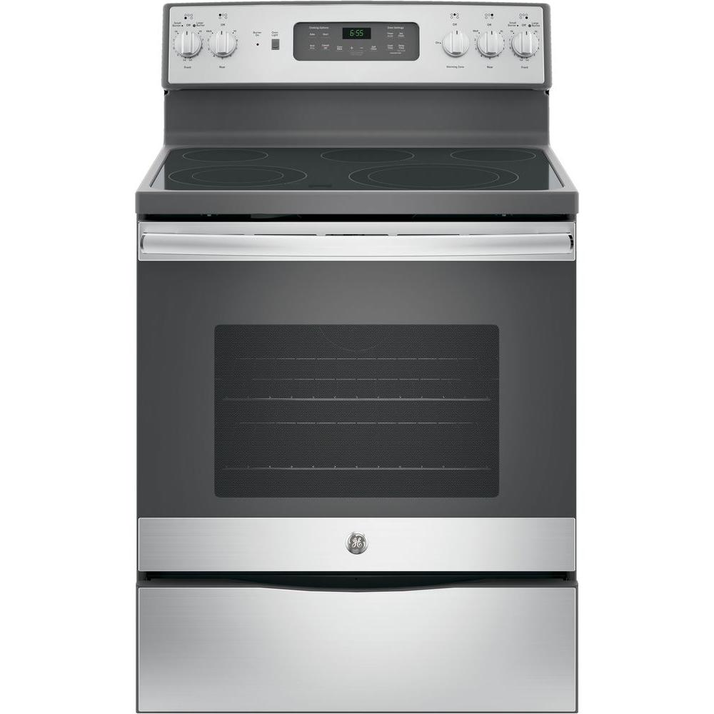 hight resolution of ge 30 in 5 3 cu ft electric range with self cleaning convection