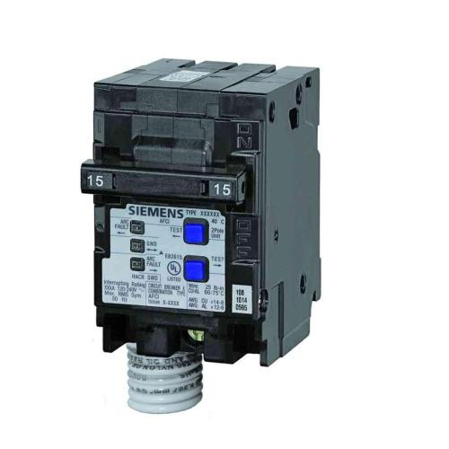 small resolution of siemens 15 amp double pole type qaf combination afci circuit breaker