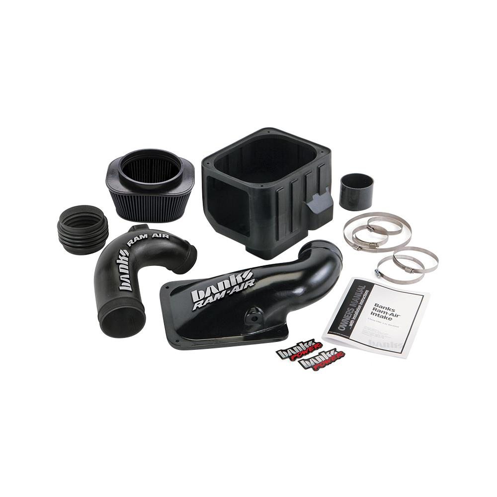 medium resolution of ram air intake system with dry filter for 2004 2005 chevrolet gmc 6 6 l duramax diesel lly engine