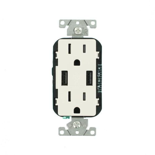 small resolution of 3 6a usb dual type a in wall charger with 15 amp tamper resistant outlets white