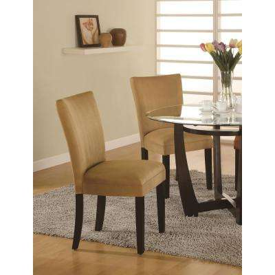 gold dining chairs swing chair with stand indoor kitchen room furniture the home depot castana collection and cappuccino parson set of 2