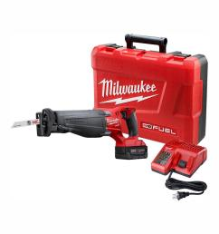m18 fuel 18 volt lithium ion brushless cordless sawzall reciprocating saw kit with 1 5 0ah batteries charger and case [ 1000 x 1000 Pixel ]