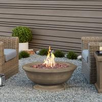 Real Flame Ventura 36 in. Fiber-Concret Square Chat Height ...