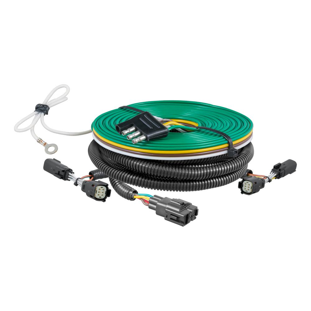 hight resolution of curt custom towed vehicle rv wiring harness 58945 the home depot bushtec wiring harness custom towed