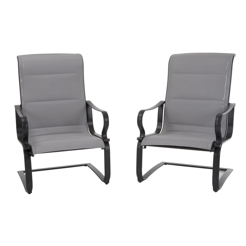 sling motion patio chairs non slip cushions for cosco smartconnect gray padded lounge 2 set