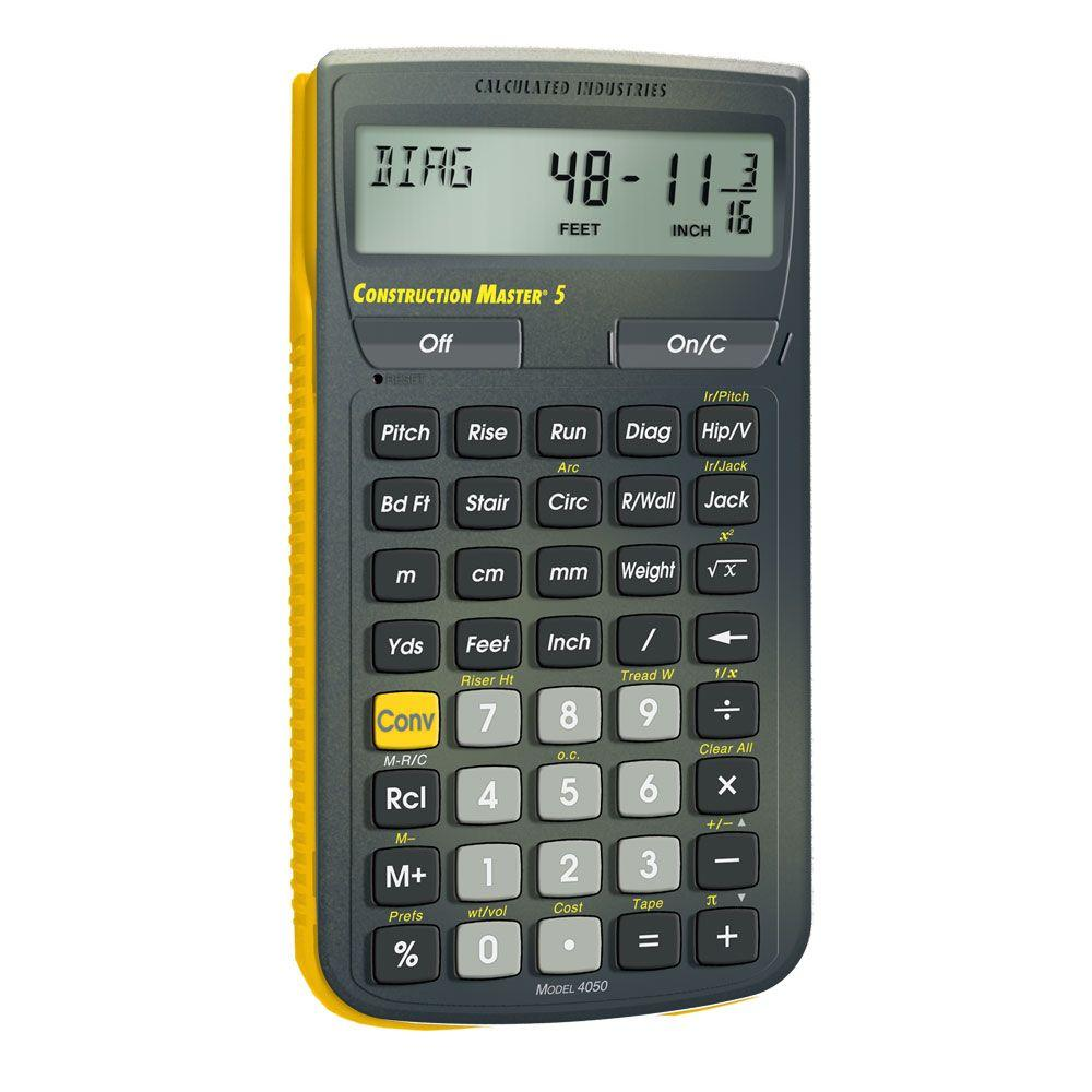 hight resolution of calculated industries construction master 5 calculator 4050 the home depot